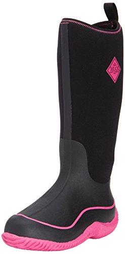 Muck Boot Women's Hale Snow Boot, Black/Hot Pink, 5 M US