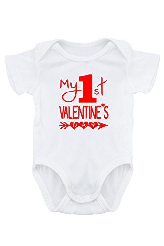 Valentine/'s Day Gift For Baby Romper My First Valentine/'s Day Personalised Name Baby Vest Baby Bodysuit Valentine/'s Day Baby Romper