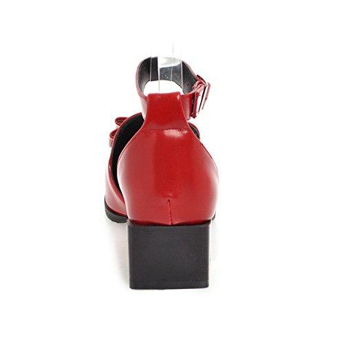 Compensées Rouge Femme 5 Sandales EU Red BalaMasa 36 FTqnSW8v