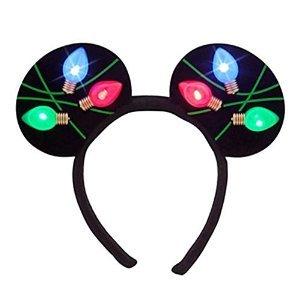 Disney Parks Holiday Christmas Lights Glow Mickey Ear Headband