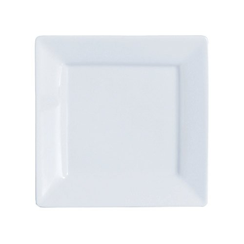 Arcoroc Square Up Extra Strong Porcelain Dinner Plate, 11 inch -- 6 per case.