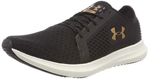Under Armour UA W Sway, Zapatillas de Running para Mujer Negro (Black/ Ivory/ Metallic Faded Gold 002)