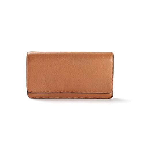 Katy Snap Wallet - Full Grain Leather Leather - Cognac (brown) by Leatherology (Image #4)