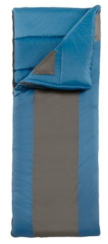 Eureka! Minnow 45 Degree Children's Rectangular Sleeping Bag; Comfortable, Lightweight Three-Season, Thermally Efficient Bag for Kids Camping – Blue/Gray – (Eureka Kids Sleeping Bag)
