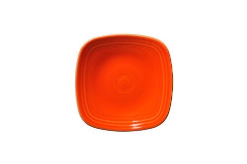 Fiesta Square Salad Plate, 21-Ounce, Poppy