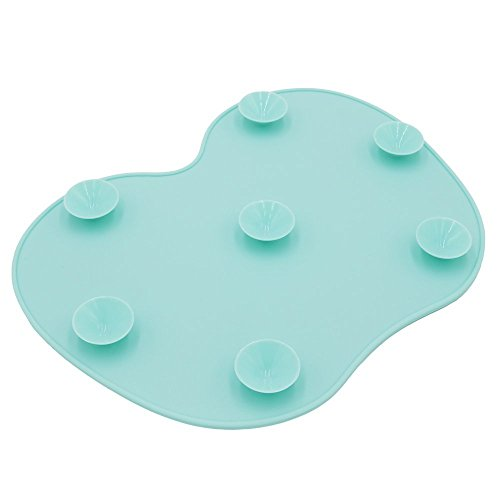 Ranphykx Silicon Makeup Brush Cleaning Mat Makeup Brush Cleaner Pad Cosmetic Brush Cleaning Mat Portable Washing Tool Scrubber with Suction Cup