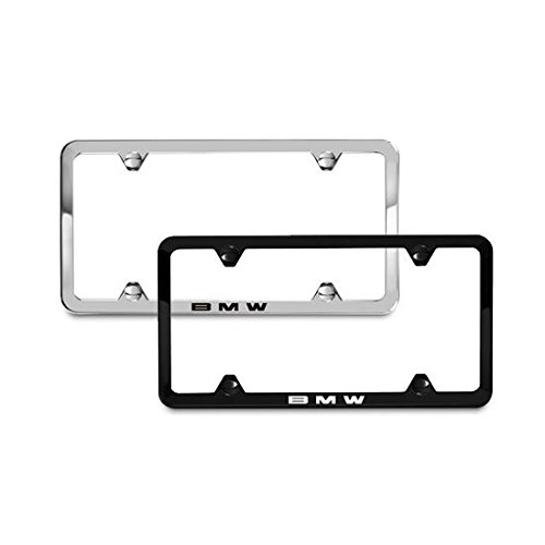 BMW Laser Slimline License Plate Frames / Polished Stainless ()