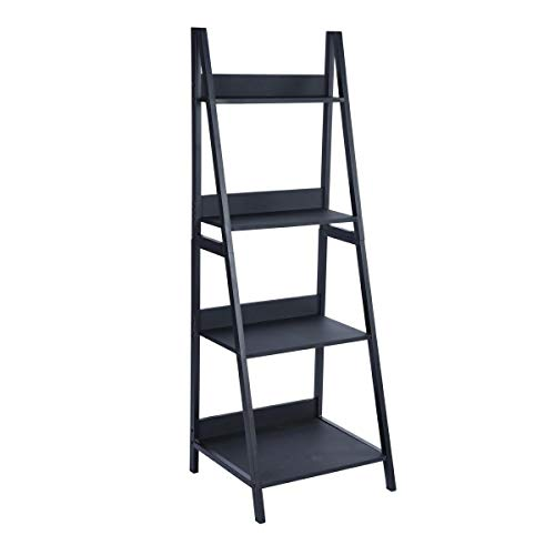 Tier Black Bookcase - 8