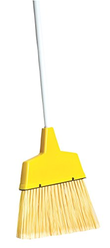 DQB Industries 06080 10-Inch Household Angled Broom with Flagged Synthetic Tip and 48-Inch Painted Steel Handle
