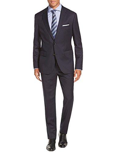 - Salvatore Exte Men's Suit Two Button Side Vent Jacket Flat Front Pants (46 Long US / 56L EU/W 40