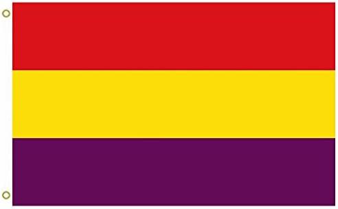 Gran Bandera Militar de la Segunda República Española Bandera Militar de la Segunda República Española Bandera al Aire Libre Bandera Bandera 3 x 5ft Banner: Amazon.es: Jardín