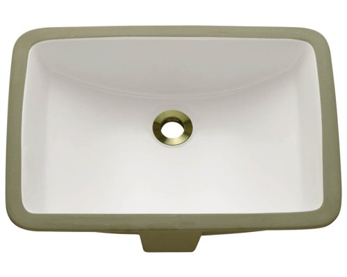 Cheap  Polaris Sinks P3191UB Bisque Rectangular Undermount Porcelain Bathroom Sink