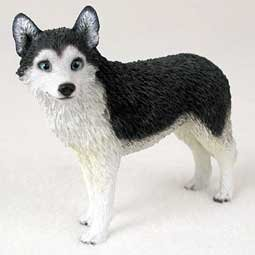 (Husky Black/White - Dog Figurine)