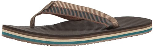 Teva Men's M Deckers Flip Sandal, Ladder Walnut, 11 M US