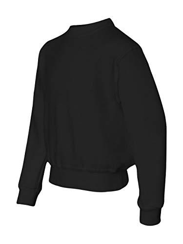 (Jerzees Youth 8 oz. NuBlend® Fleece Crew BLACK L)
