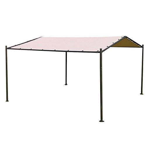 Abba Patio Garden Gazebo 13' x 11.5' Soft Top Outdoor Canopy Carport for Outdoor Events, Picnics and Parties, Sporting Events, Beige