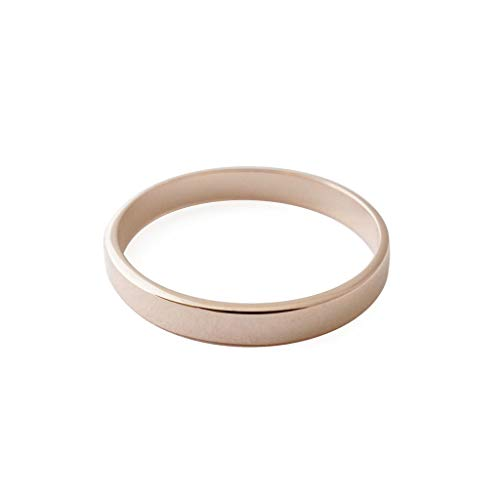 - HONEYCAT Boyfriend Thick Band Ring in Gold, Rose Gold, or Silver | Minimalist, Delicate Jewelry (Rose Gold, 8)