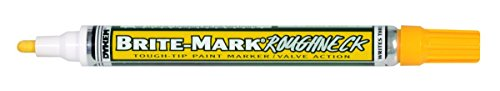 BRITE-MARK Rough Neck Tough Tip Marker, yellow by Dykem