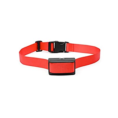 Oternal® Electronic No Bark Control Dog Training Collar with Adjustable Sensitivity Control, Red Nylon Collar, an High Quality and Effective Pet Training Device for 25-120 Pounds Dog, Keeping a Quiet Environment At Home/Indoor