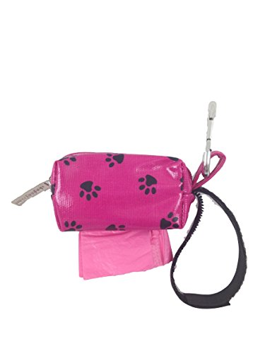 Image of Doggie Walk Bags Designer Duffle Bags for Dogs, Citrus, Pink Paw, Pink