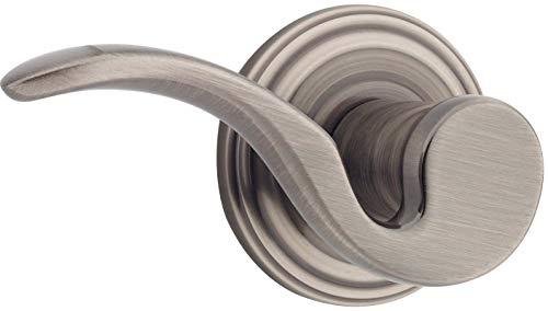Brooklane Single (Kwikset 966BRLRH-15A Right Hand Brooklane Interior Single Cylinder Handleset Trim Antique Nickel Finish)