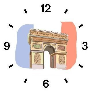 Arc de Triomphe -Tricolor in Background Paris & France Theme - WATCHBUDDY ELITE Chrome-Plated Metal Alloy Watch with Metal Mesh Strap-Size-Large ( Men's Size or Jumbo Women's Size )