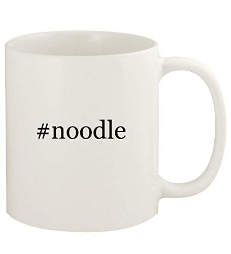 #noodle - 11oz Hashtag Ceramic White Coffee Mug Cup, White