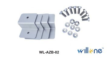 Willone WL-AZB-02 100 Kits Z Brackets Solar Panel Mounting Kits Sets For RV Boat Car Truck Caravan Home Mounted Off Grid Roof by Willone