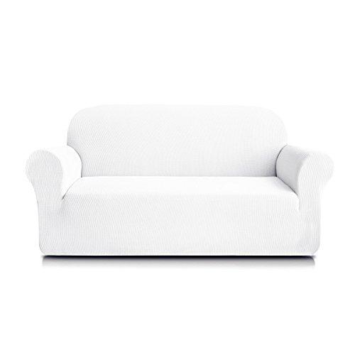 Subrtex 1-Piece Spandex Stretch Slipcover(Sofa, Off-White)