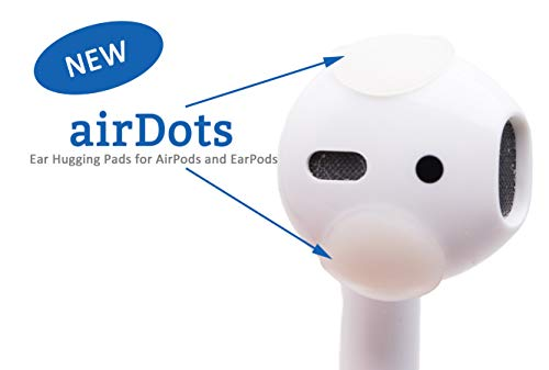(AirDots 2.0 AirPods Ear Hook Accessory Compatible with Apple AirPods/EarPods/Earphones/Earbuds (24 Pack). Easy Charging, Better Sound and Comfy Listening for Workouts, audiobooks, etc. Patent Pending.)