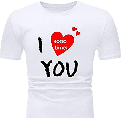 zarupeng✦‿✦ Moda Hombre Casual Verano I Love You 3000 ...