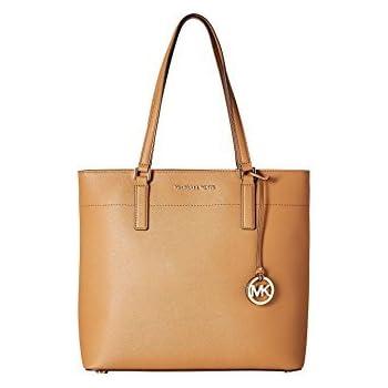 2179b74d911 MICHAEL Michael Kors Womens Morgan Pebbled Carryall Tote Handbag Brown Large