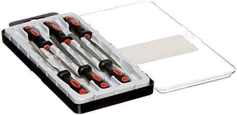 AM-TECH 6pc ASSORTED FILE SET FLAT TRIANGLE RASP NEEDLE CASE TOOL PRECISION