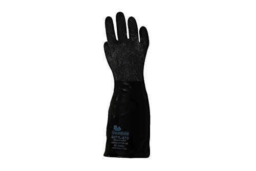 Guardian CP-14R Butyl Coated Rough Finish Short Glove 14 Mil Size XL (1 Pair) Made in USA! by Guardian