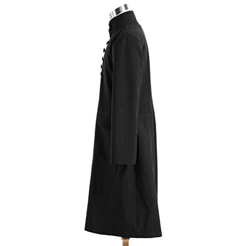 Men's Professor Severus Snap Black Robes Cosplay Halloween Costumes by Costume Party Heart (Image #3)