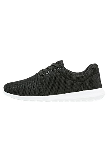 ANNA FIELD Women's Low Top Sneakers - Print and Solids From Mild To Wild - Low Top Trainers - Ladies' Sneakers With Style and Attitude Black N8pkb