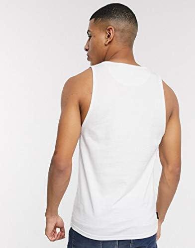 ヴォイ タンクトップ ノースリーブ アームホール メンズ Voi Jeans logo vest in whiteRRP [並行輸入品]
