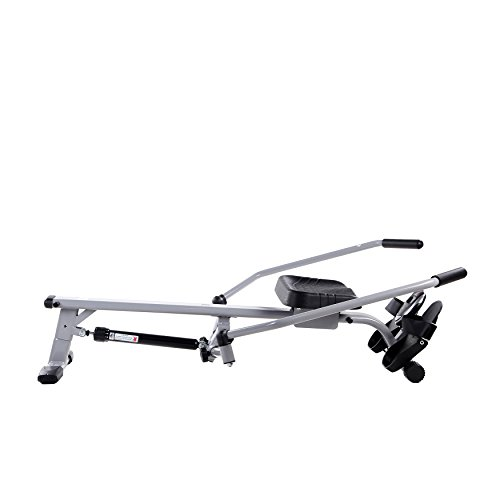 Sunny Health & Fitness SF RW5639 Full Motion Rowing Machine Rower w/ Extended Weight Capacity and LCD Monitor