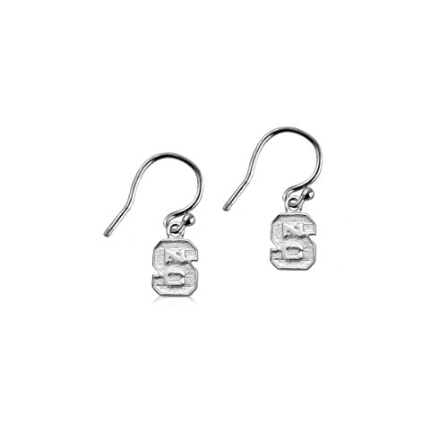 - NC State University Wolfpack NCSU Sterling Silver Jewelry by Dayna Designs (Dangle Earrings)