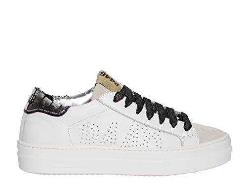 Pelle E Rifiniture Fori Alta Gomma Stringate Sneaker Camosico Thea Laterali Con In Para P448 Metallizzata qHBtW