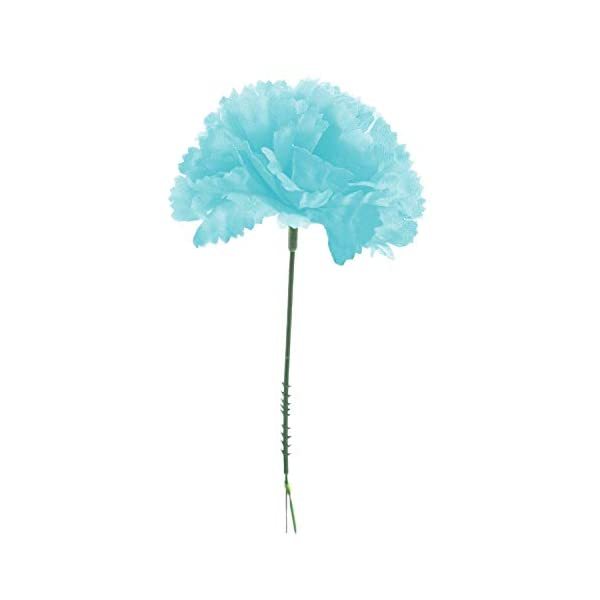 Royal-Imports-100-Silk-Carnations-Artificial-Fake-Flower-for-Bouquets-Weddings-Cemetery-Crafts-Wreaths-5-Stem-Pick-Bulk-Baby-Blue