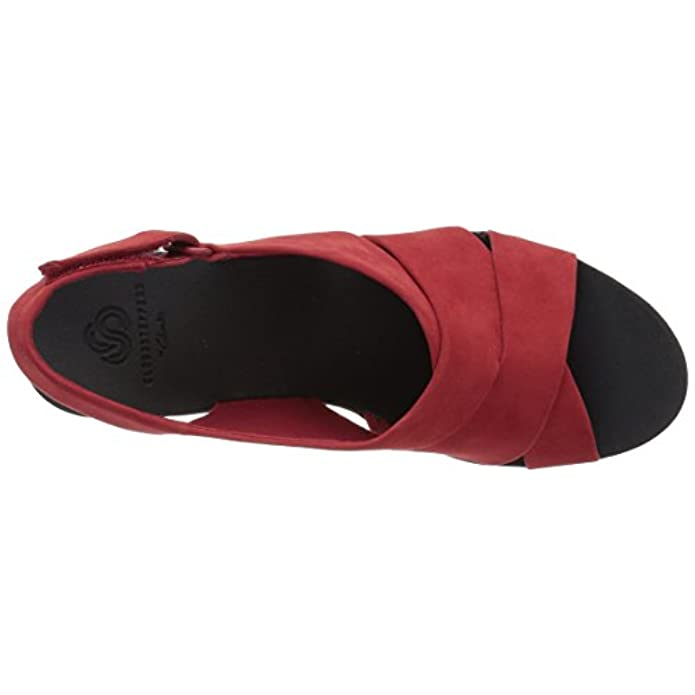 Clarks Women's Caddell Petal Platform Red Synthetic Nubuck 8 5 M Us
