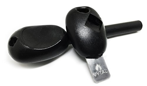 Vytal Bushcraft Swedish Firesteel Ferro Rod Fire Starter and Emergency Whistle (Single)
