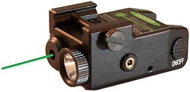 HiLight P3XL 300 lm Strobe Pistol Flashlight & Green Laser Sight Combo for Subcompact Pistols