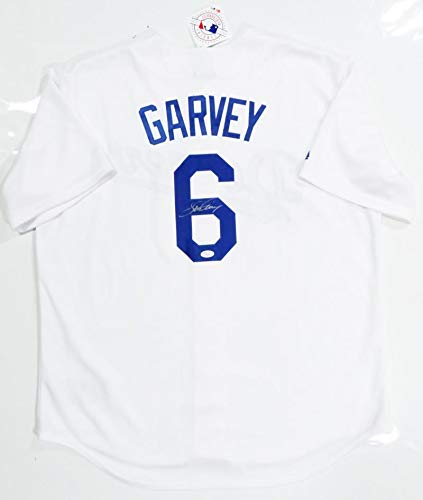 Steve Garvey Signed Jersey - White Witnessed Auth  6 - JSA Certified -  Autographed MLB 6fed9809ded