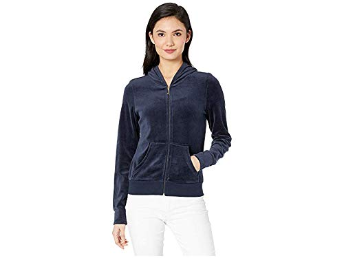 Juicy Couture Logo Velour - Juicy Couture Women's Scattered Juicy Velour Logo Robertson Jacket Regal Large