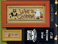 Halloween Rules-Wear Costume/Eat Candy Chart and Free Embellishment ()