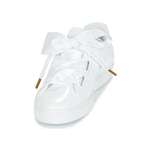 Basses puma Femme Wn's Blanc Sneakers puma Basket White White Heart Puma 2 Patent wp8BqgX
