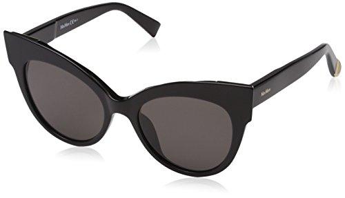 Max Mara Women's Mm Anita Polarized Cateye Sunglasses, BLACK, 52 ()