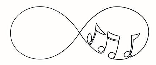 Dainty Infinity Symbol Calligraphy Vinyl Decal Sticker (8